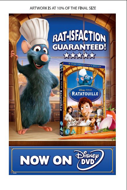 advertising copywriting services for Disney's Ratatouille