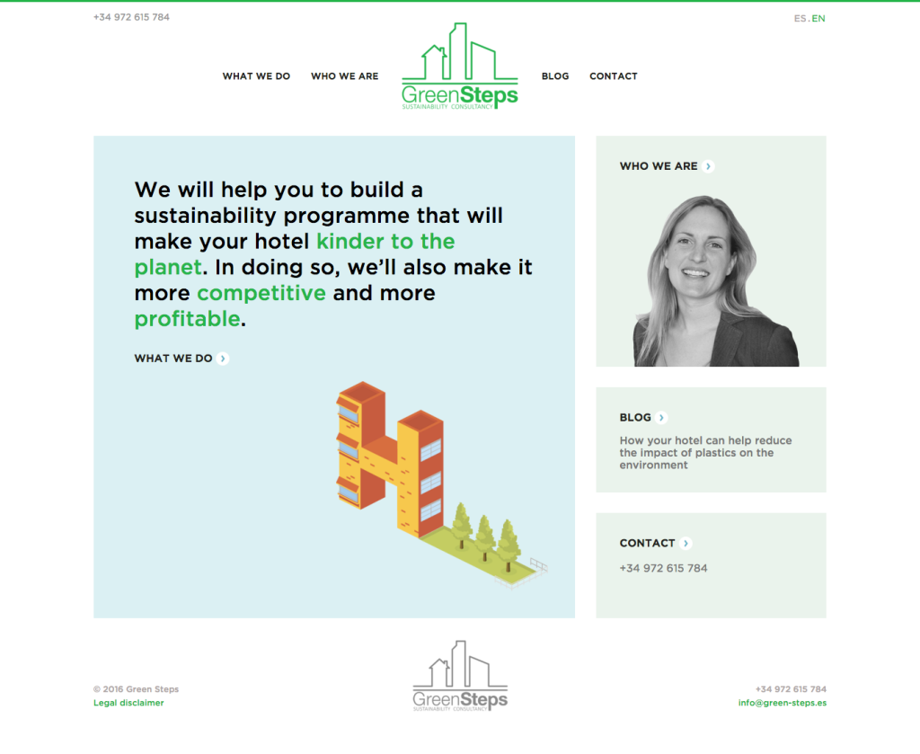 Marketing, branding and website copywriting for sustainability consultancy Green Steps