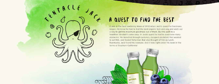 Brand story and web copywriting for LA juice bar