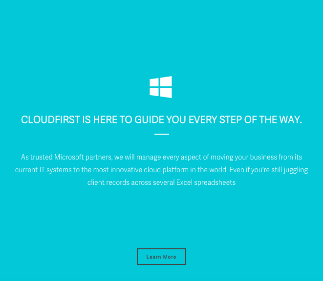website copywriting and branding for SaaS company CloudFirst