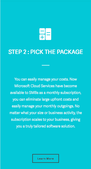 CloudFirst project - web copywriting services for SaaS company