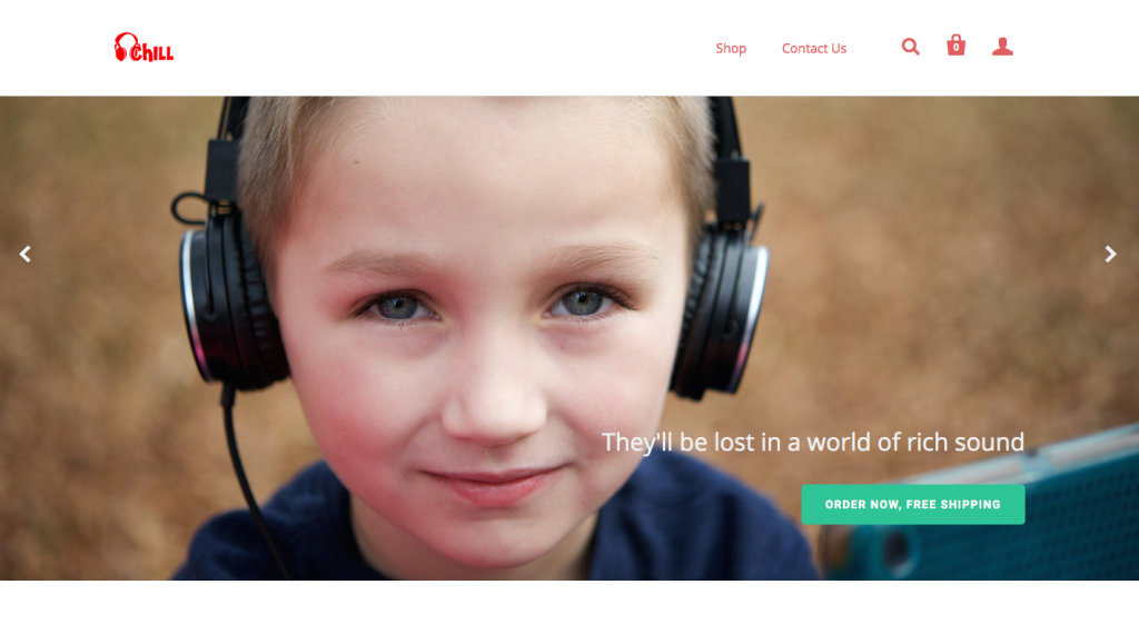 banner website copy for kids headphone product