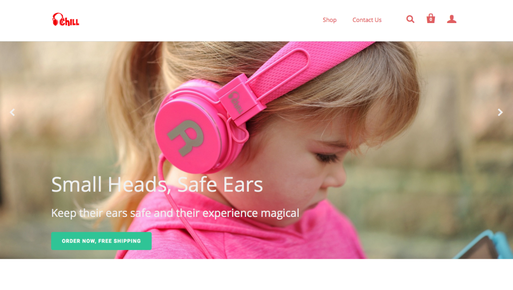 website banner copy for kids headphone brand