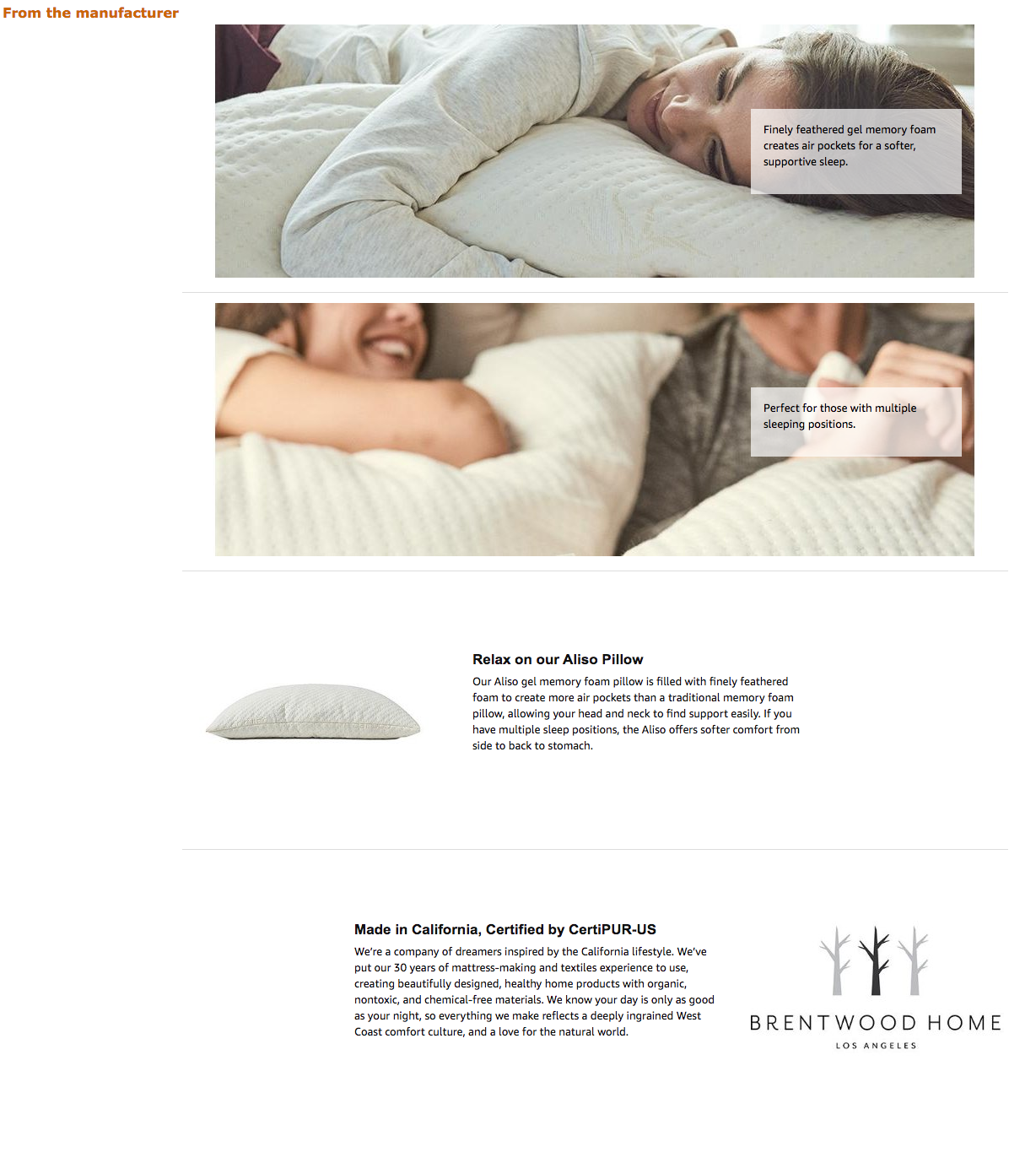 Amazon ebc copywriting service for Los Angeles bedding company