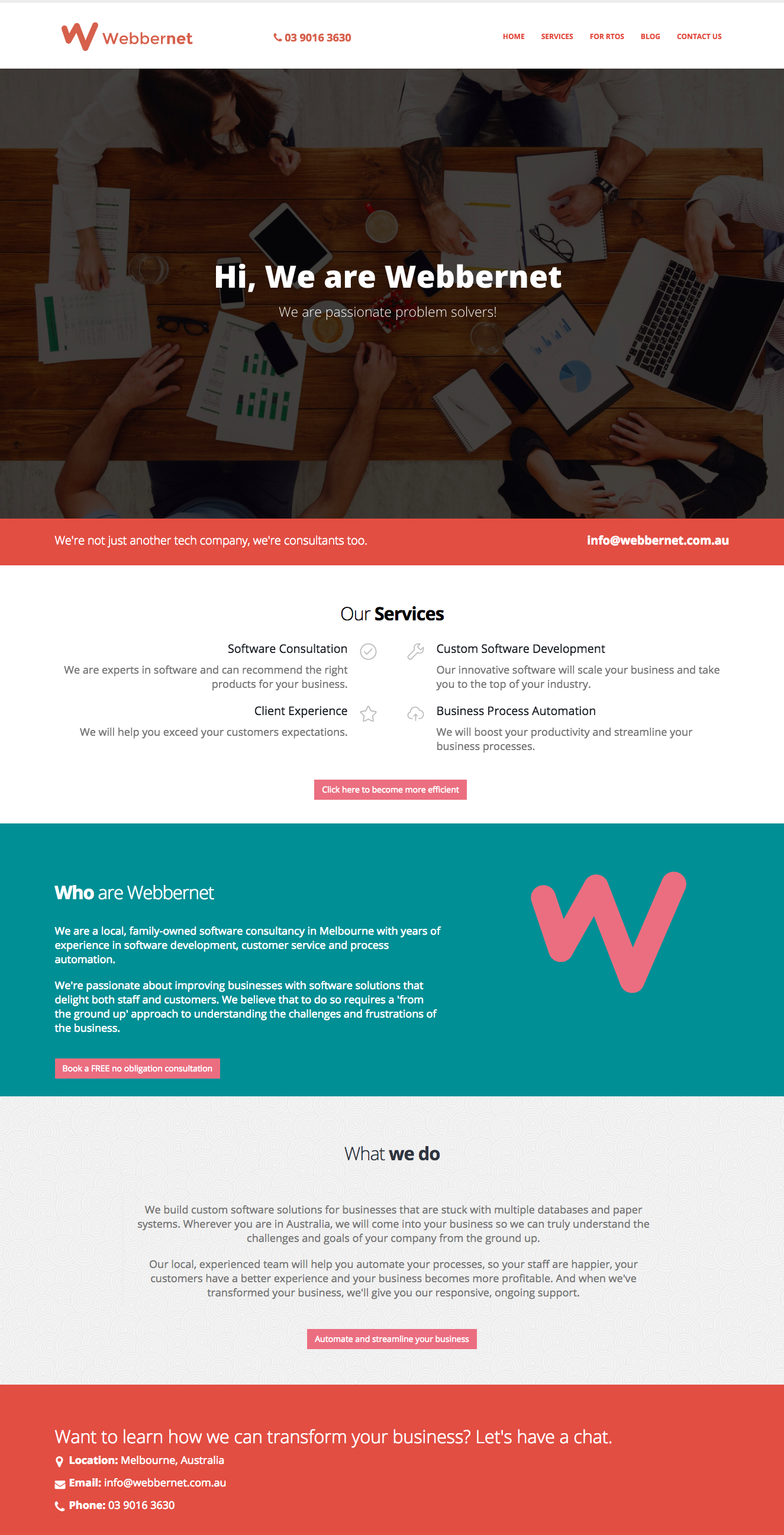 Landing page copywriting services for tech startup company